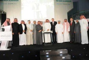 The ceremony to mark the 'first hot metal milestone' was held in Ras Al Khair. (Image source: Ma'aden)