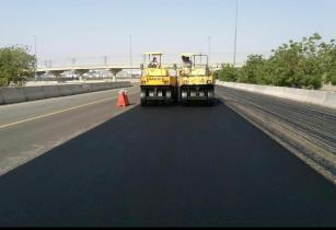 saudi road maintenance work