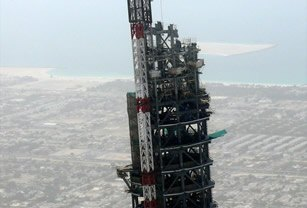 The Burj Khalifa under construction