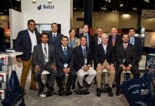 Steven Blowers front second from right with the Bahri team at Breakbulk Americas 2016