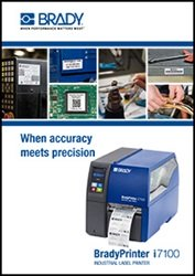 bradyPrinter i7100brochure cover